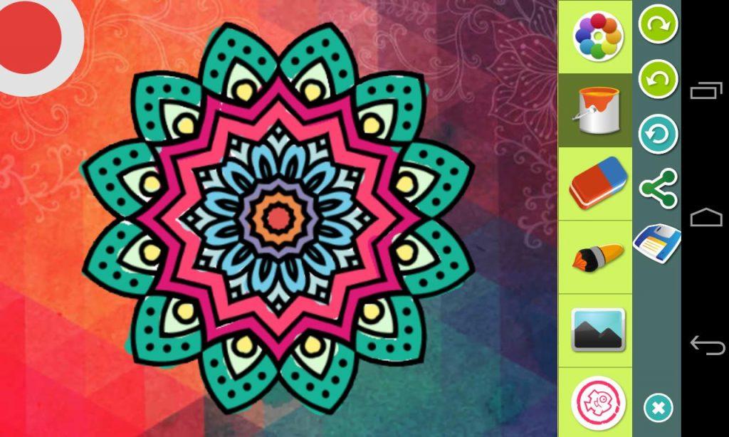 Aplicación Para Colorear Mandalas En El Móvil